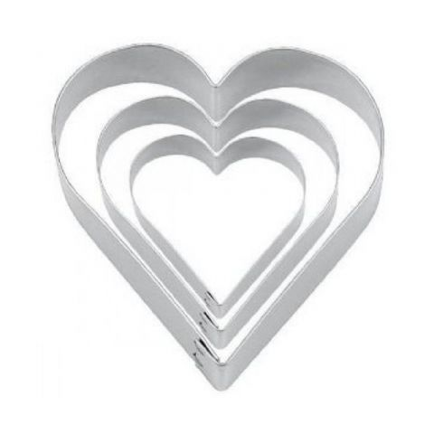 Tala 3 Metal Heart Biscuit & Cookie Cutters